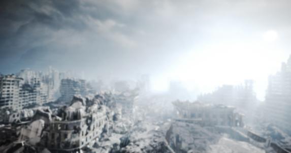 Hell「Nuclear Winter Urban Landscape (Bokeh)」:スマホ壁紙(0)
