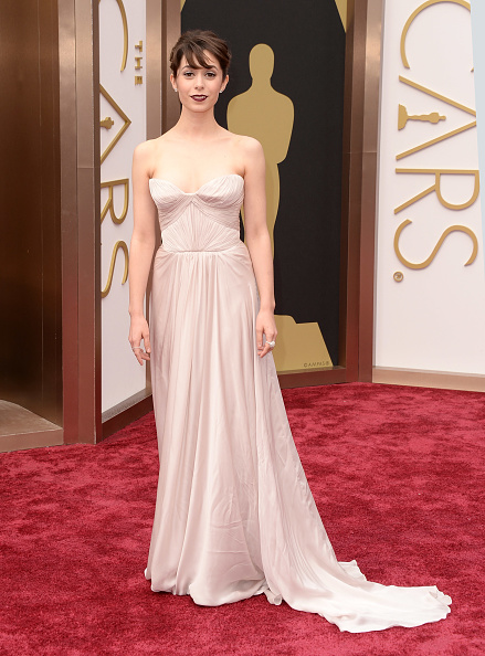 Strapless Evening Gown「86th Annual Academy Awards - Arrivals」:写真・画像(10)[壁紙.com]