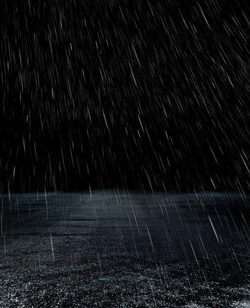 Parking lot in rain:スマホ壁紙(壁紙.com)