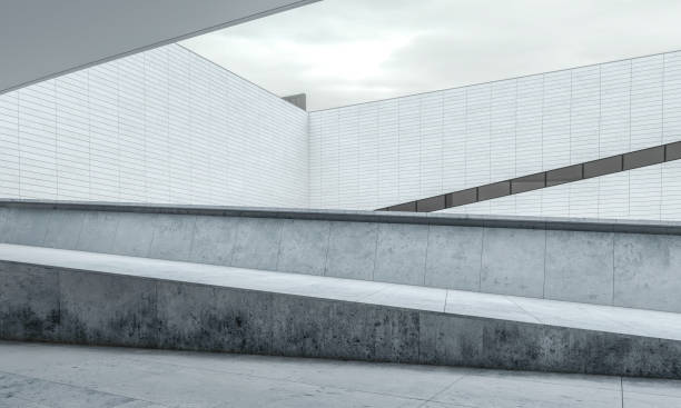 Parking lot modern concrete background stage:スマホ壁紙(壁紙.com)