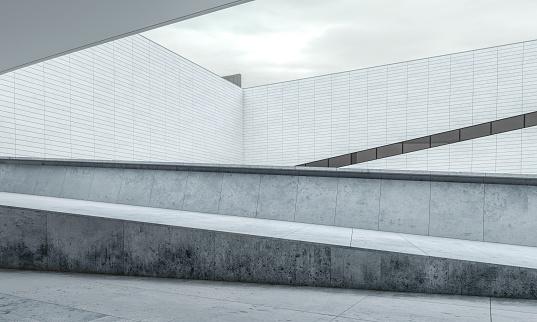 Parking Lot「Parking lot modern concrete background stage」:スマホ壁紙(16)