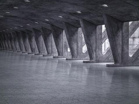 Parking Lot「Parking lot modern concrete background stage」:スマホ壁紙(6)