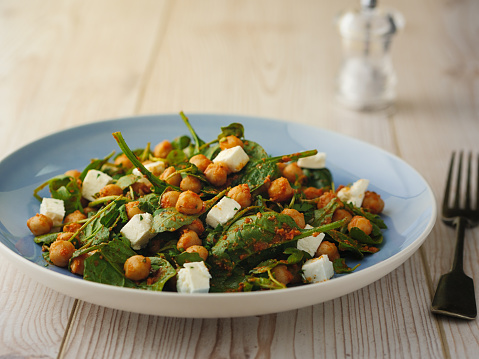 Chick-Pea「Healthy Chickpea salad with feta cheese」:スマホ壁紙(1)