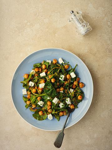 Greek Food「Healthy Chickpea salad with feta cheese」:スマホ壁紙(19)
