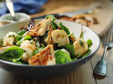 Vinaigrette Dressing「Healthy chicken salad」:スマホ壁紙(15)