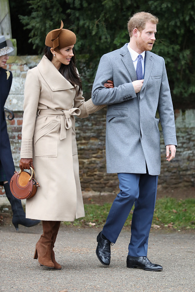 Beige「Members Of The Royal Family Attend St Mary Magdalene Church In Sandringham」:写真・画像(4)[壁紙.com]