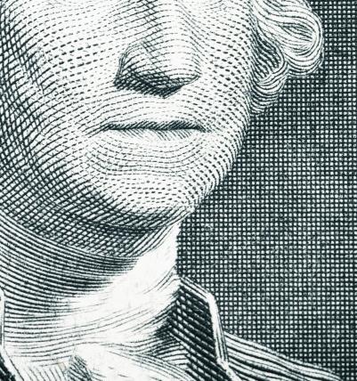 アメリカ通貨「Close Up George Washington on a One Dollar Bill.」:スマホ壁紙(6)
