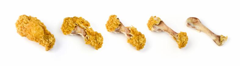 Chicken Meat「Series of chicken leg bites」:スマホ壁紙(12)