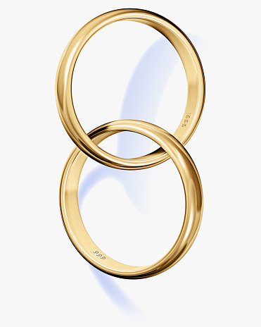 Two Objects「Two interlocked wedding rings」:スマホ壁紙(0)