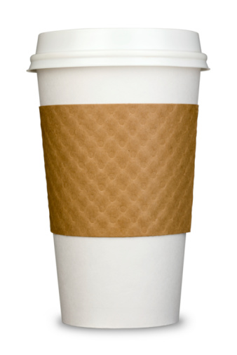 カフェラテ「一般的な紙製絶縁のコーヒーカップ付き、蓋および段ボールスリーブ」:スマホ壁紙(10)