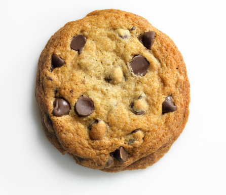 Snack「Homemade Chocolate Chip Cookie on white, overhead, XXXL」:スマホ壁紙(19)