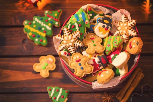 雪だるま「手製のクリスマスのジンジャーブレッドのクッキー」:スマホ壁紙(17)