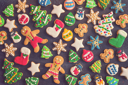 Dessert「Homemade Christmas Gingerbread Cookies」:スマホ壁紙(18)