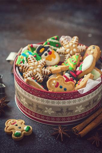 Dessert「Homemade Christmas Gingerbread Cookies」:スマホ壁紙(10)