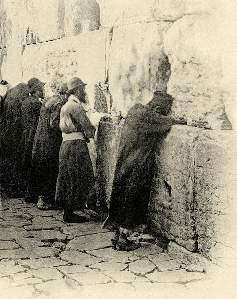 Wailing Wall「Jews praying at the Wailing Wall Jerusalem 1894」:写真・画像(10)[壁紙.com]