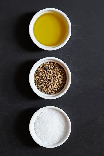 Spice「Olive oil, pepper and salt in ramekins」:スマホ壁紙(5)