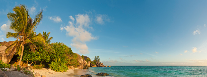Frond「Anse Source d'Argent iconic Seychelles beach idyllic tropical island panorama」:スマホ壁紙(18)