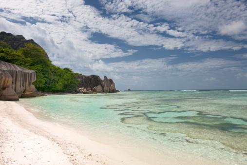 ビーチ「アンソースダールジャン、セイシェル諸島(XXXL」:スマホ壁紙(16)