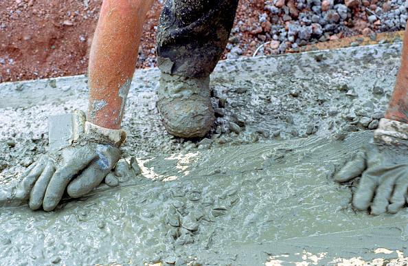 Cement「Detail of hand leveling concrete」:写真・画像(11)[壁紙.com]