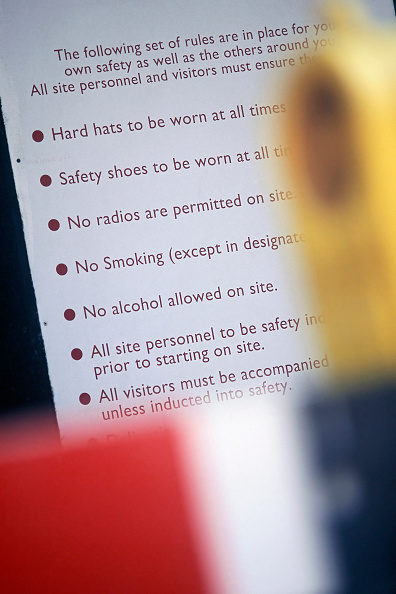 2002「Detail of health and safety checklist.」:写真・画像(1)[壁紙.com]