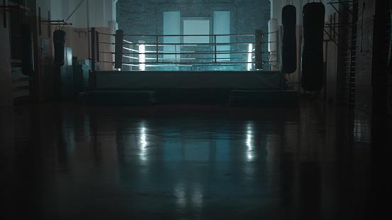 Dark「Box training interior. Boxing ring in background」:スマホ壁紙(17)