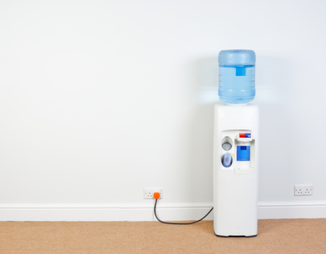 Southwest England「Water cooler plugged into wall in office, close-up」:スマホ壁紙(2)