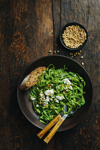 Pine Nut「Spinach pasta with creamy broccoli pesto, pine nuts and feta」:スマホ壁紙(4)