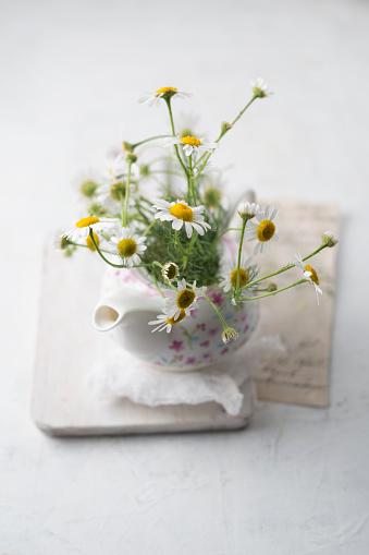 Teapot「Chamomile flowers in a tea pot」:スマホ壁紙(17)