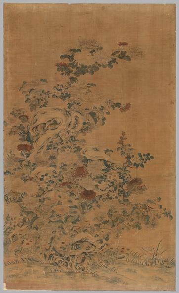 Chrysanthemum「Ko Ssu Panel: Rocks And Chrysanthemums」:写真・画像(7)[壁紙.com]
