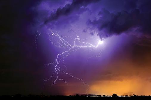 Thunderstorm「Lightning, Arlington, Arizona, America, USA」:スマホ壁紙(0)
