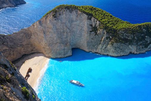 Greek Culture「Navagio Beach, Zakynthos island, Greece」:スマホ壁紙(2)