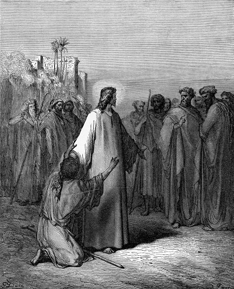 Old Testament「Jesus restores the man possessed by demons who is blind and cannot speak (Matthew chapter IX)」:写真・画像(9)[壁紙.com]