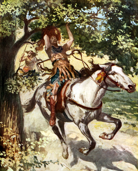 Recreational Horseback Riding「Absalom hanging on the oak tree b y J James Tissot」:写真・画像(2)[壁紙.com]
