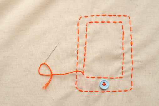 Embroidery「The shape of the digital tablet sewn with a thread」:スマホ壁紙(14)