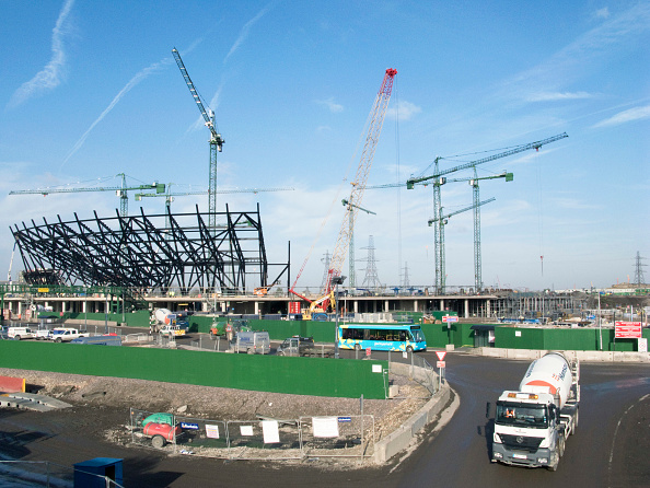 Construction Site「UK Building of the Olympic stadium at the Olympic Park in London for the 2012 Games.」:写真・画像(18)[壁紙.com]