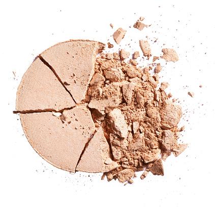 Crushed「A close up beauty image of a smashed or broken powder make up compact」:スマホ壁紙(12)