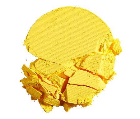 Eyeshadow「A close up beauty image of a smashed or broken yellow powder make up compact」:スマホ壁紙(16)