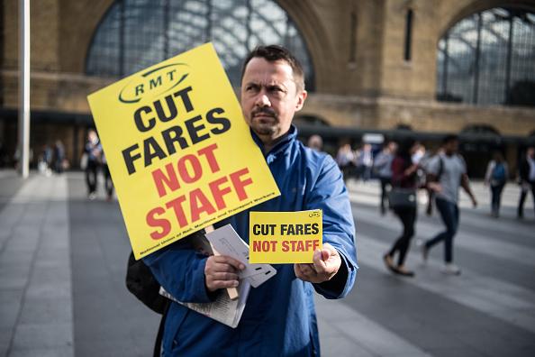 Transportation「Rail Fare Protests At London's King's Cross Station」:写真・画像(19)[壁紙.com]
