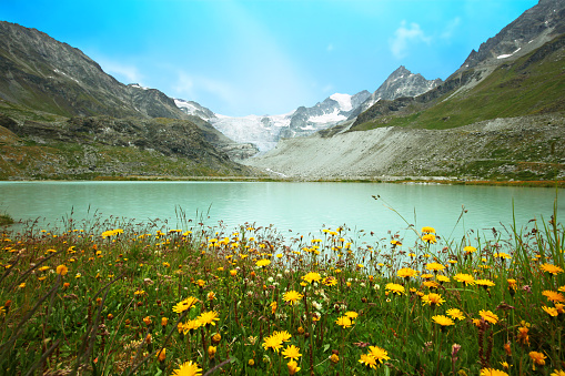 European Alps「Chateaupre Lake at the Moiry Glacier in Switzerland」:スマホ壁紙(12)