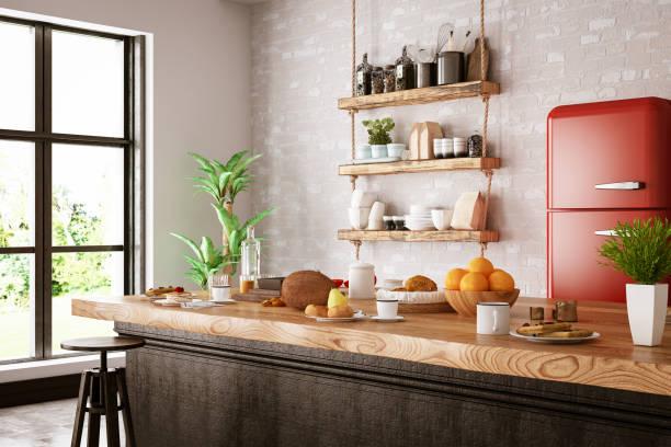 Kitchen Counter with Foods:スマホ壁紙(壁紙.com)
