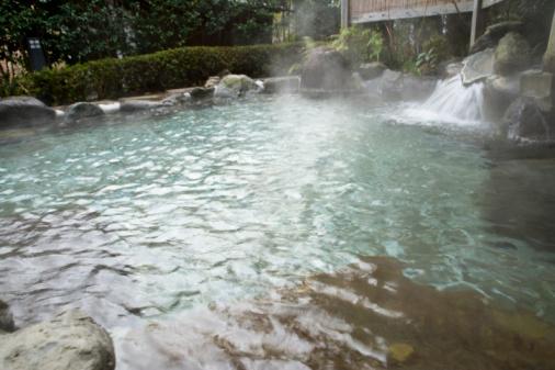Hot Springs「Japanese common tub, hot spring, high angle view, Japan」:スマホ壁紙(11)