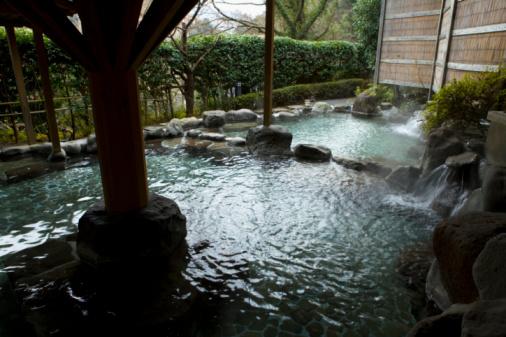 Hot Spring「Japanese common tub, hot spring, high angle view, Japan」:スマホ壁紙(8)