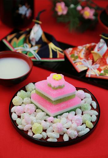 ひな祭り「Japanese confectionery」:スマホ壁紙(16)