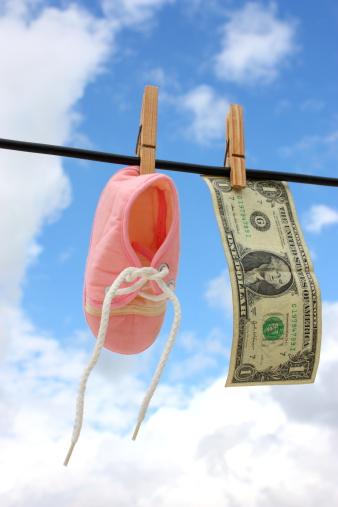 赤ちゃん「ブーティとお金」:スマホ壁紙(3)