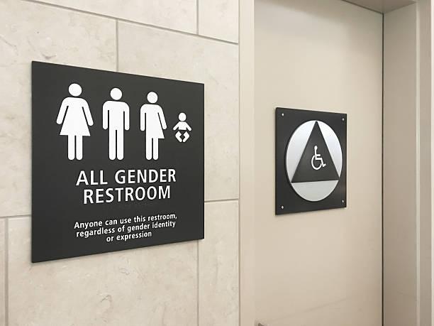 Multi gender bathroom signage in airport:スマホ壁紙(壁紙.com)