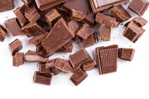 Joy「chopped chocolate pieces isolated on white」:スマホ壁紙(2)