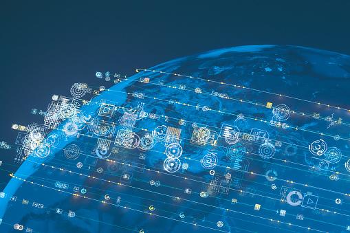 Cloud Computing「Global communications concept image」:スマホ壁紙(3)