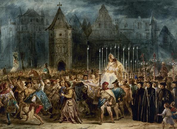 Painted Image「The Feast Of Fools (La Fête Des Fous). The Hunchback Of Notre-Dame By Victor Hugo.」:写真・画像(0)[壁紙.com]