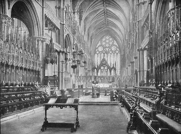Ceiling「The Choir Lincoln Cathedral 1902」:写真・画像(9)[壁紙.com]