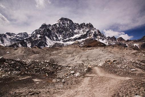 Khumbu「The Ngozumpa Glacier near Gokyo, Everest Base Camp via Gokyo Trek, Nepal」:スマホ壁紙(7)